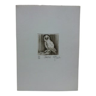 "1980s McGinnis ""Snowy Owl"" Limited Edition Signed & Numbered Print For Sale"