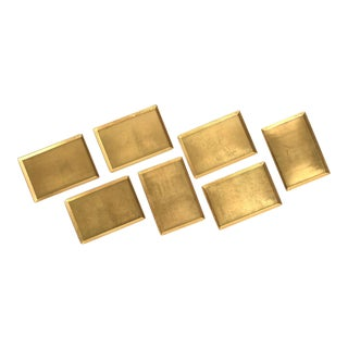 Japanese Gilded Gold & Lacquer Trays - Set of 7