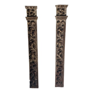 Carved Architectural Fragments - a Pair For Sale