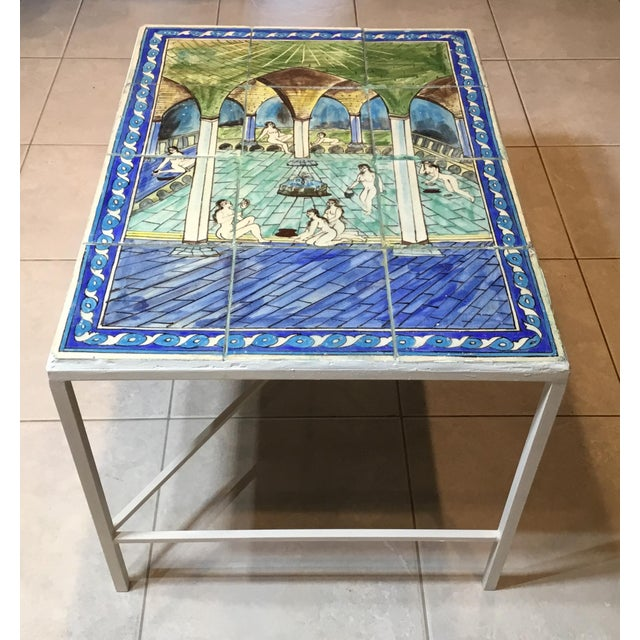 Vintage Persian Tile Top Coffee Table For Sale - Image 13 of 13