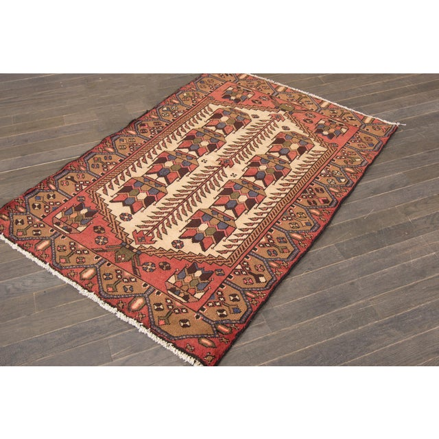 """Traditional Vintage Persian Rug, 3'4"""" X 4'10"""" For Sale - Image 3 of 6"""