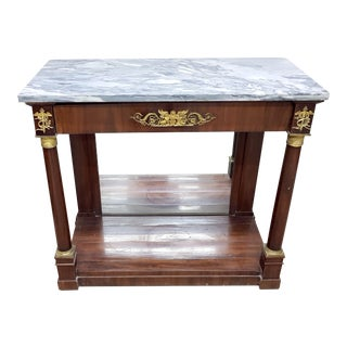 19th Century French Empire Mahogany Console Table For Sale