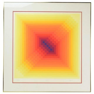 """sog V"" Jurgen Peters Op Art Limited Edition Serigraph, Signed #'d, 1975"