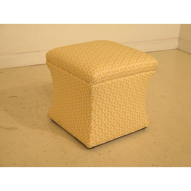 Traditional Calico Corners Custom Upholstered Ottomans - A Pair For Sale - Image 3 of 10