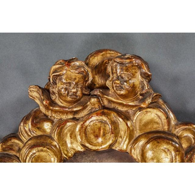 Baroque A Rare Italian Baroque Giltwood Mirror For Sale - Image 3 of 5