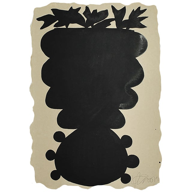 Abstract Unusual Vase Three Painting by Kate Roebuck For Sale - Image 3 of 3
