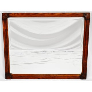 Antique Art Deco Wood Framed Wall Mirror Preview
