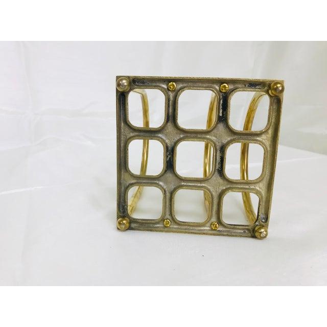 Brass 1960s Art Deco Brass File/Letter Holder Desk Accessory For Sale - Image 7 of 8