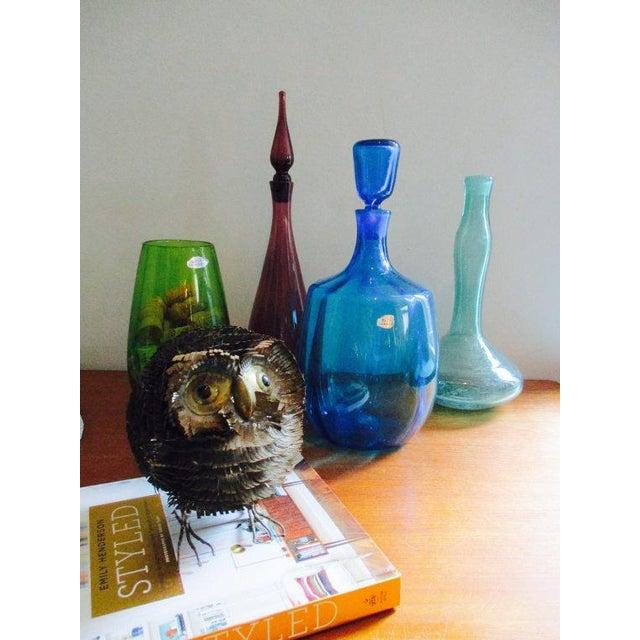 Blenko Green Art Glass Vase - Image 10 of 10