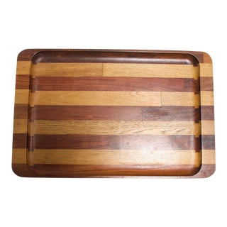 Don Shoemaker Mexican Modernist Striped Cocobolo Service Tray, Mexico For Sale