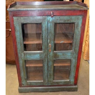 Vintage Wooden Cabinet W/ Glass Preview