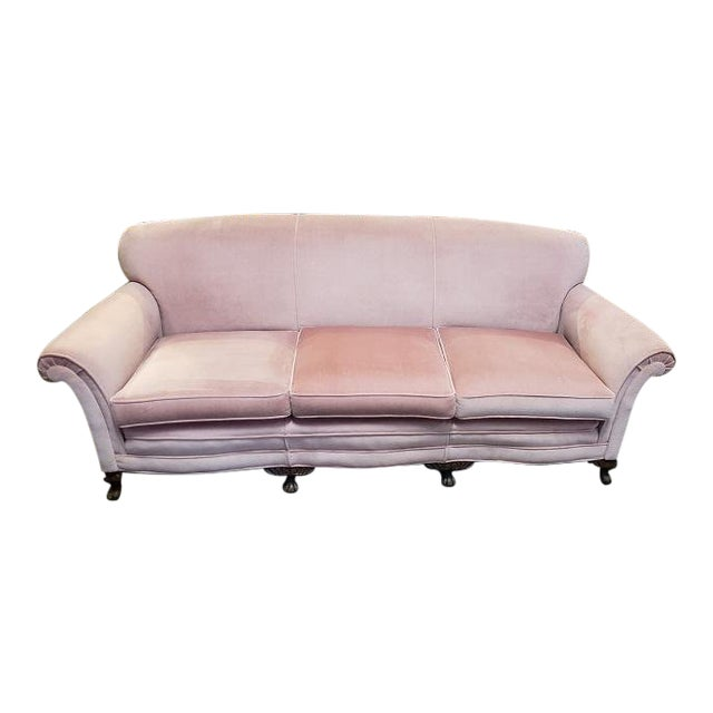 Vintage Sofa W/ Light Pink Fabric C.1960s For Sale