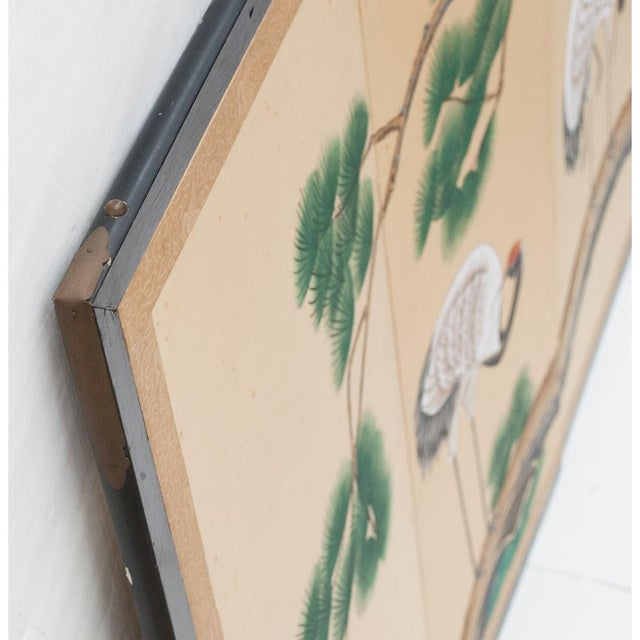 Late 19th - Early 20th Century Japanese Byobu Screen For Sale - Image 11 of 13