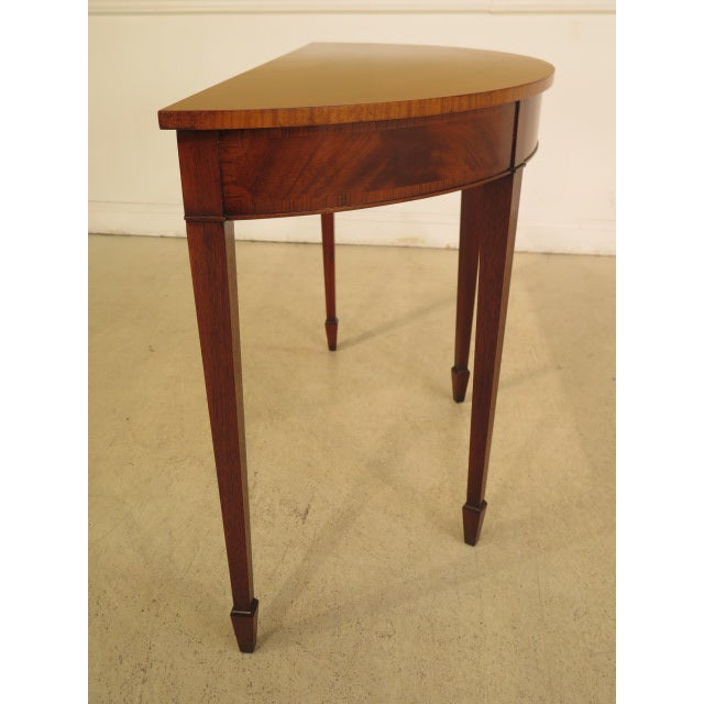 Federal Style Mahogany Demilune Tables - A Pair - Image 9 of 11