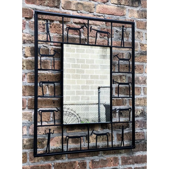 Americana Frederick Weinberg 1950s Vintage Wall Mirror For Sale - Image 3 of 5