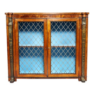 Regency Satinwood and Painted Credenza For Sale