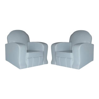 1930s Vintage Art Deco Style Lounge Armchairs - a Pair For Sale