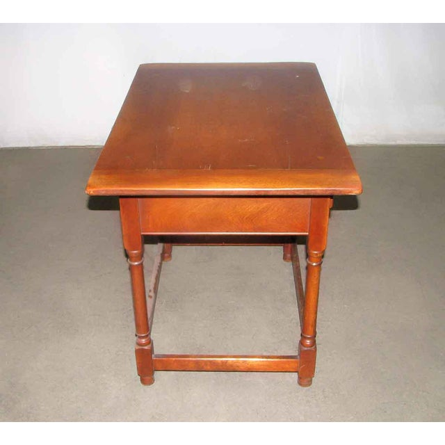 Vintage Maple Desk Table For Sale - Image 6 of 7