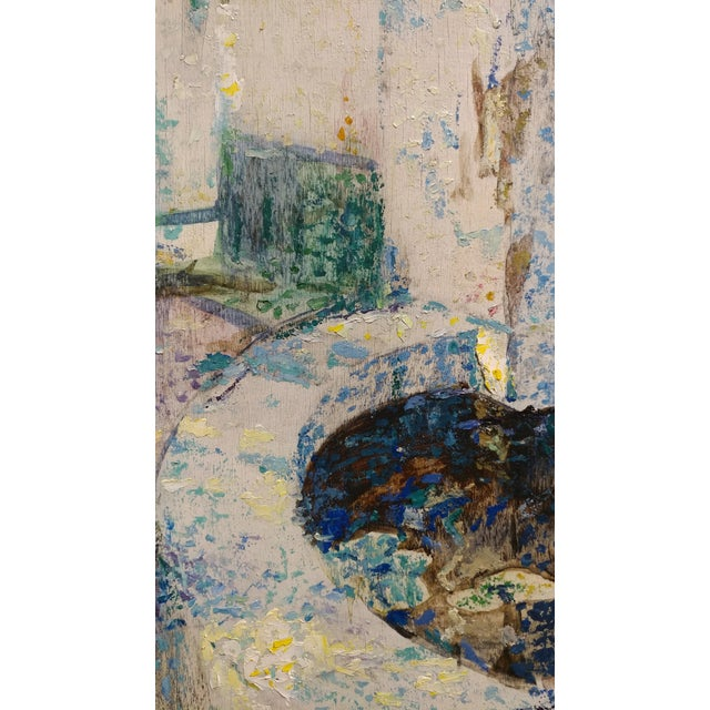 Douglass Parshall - Tiled Fountain -Oil Painting - California Impressionist For Sale - Image 4 of 10
