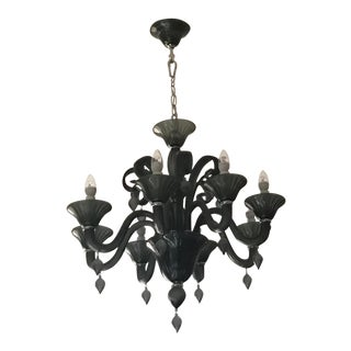 Treviso 8-Light Chandelier, Indigo Smoke