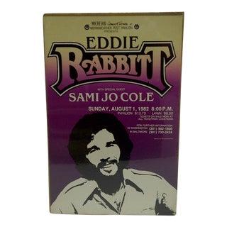 "Vintage ""Eddie Rabbitt"" Concert Poster For Sale"