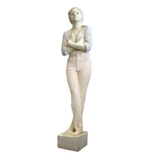 Realistic Woman Sculpture by Marc Sijan For Sale