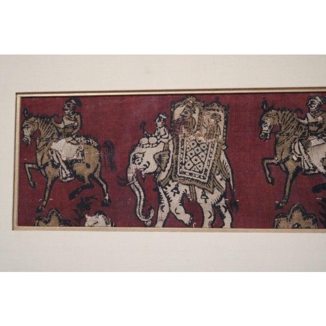Asian Framed Kalamkari Textile, Moghul Empire For Sale - Image 3 of 6