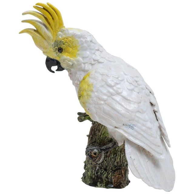 1930s Hand Painted Cockatoo Figure by Silvestrie For Sale - Image 13 of 13