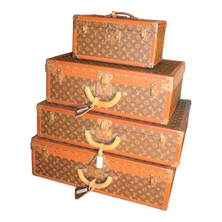 Antique Louis Vuitton Luggage- Set of 4 For Sale