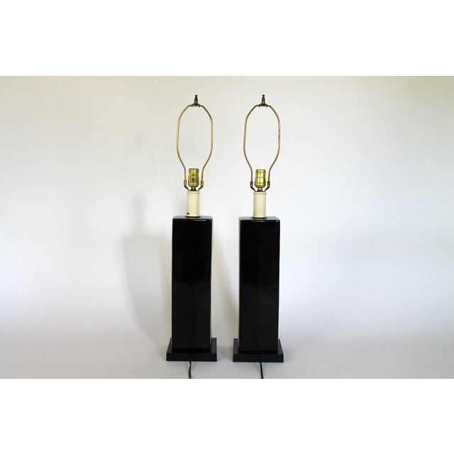 Pair of Mid-Century Ceramic Table Lamps - Image 7 of 8