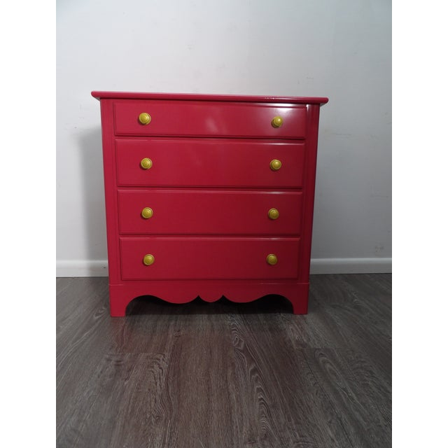 Chinoiserie Henry Link Pink Lacquer Nightstands - a Pair For Sale In West Palm - Image 6 of 10