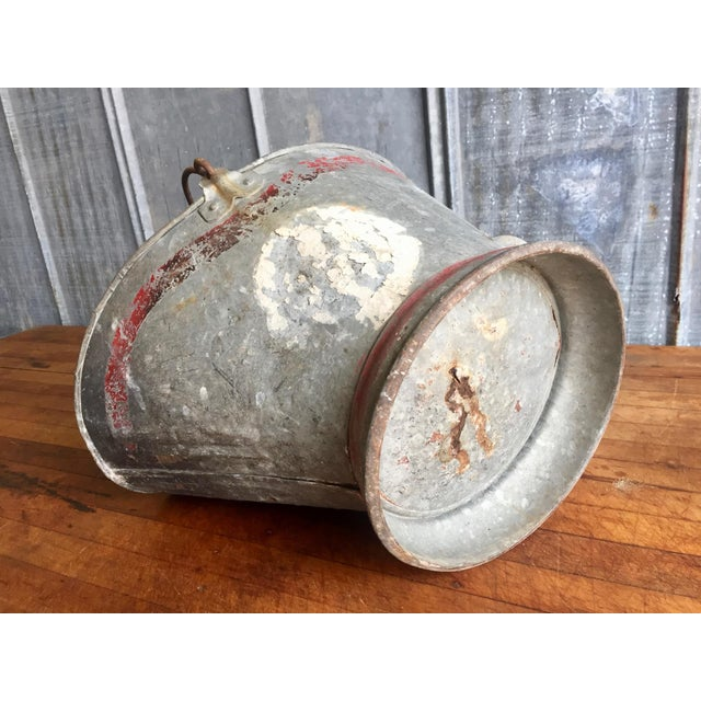 Metal Vintage Coal Scuttle Bucket For Sale - Image 7 of 9