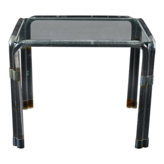 Lucite Side Table Attributed to Charles Hollis Jones For Sale