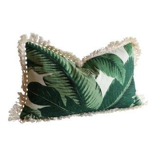 Fringed Banana Leaf Pillow