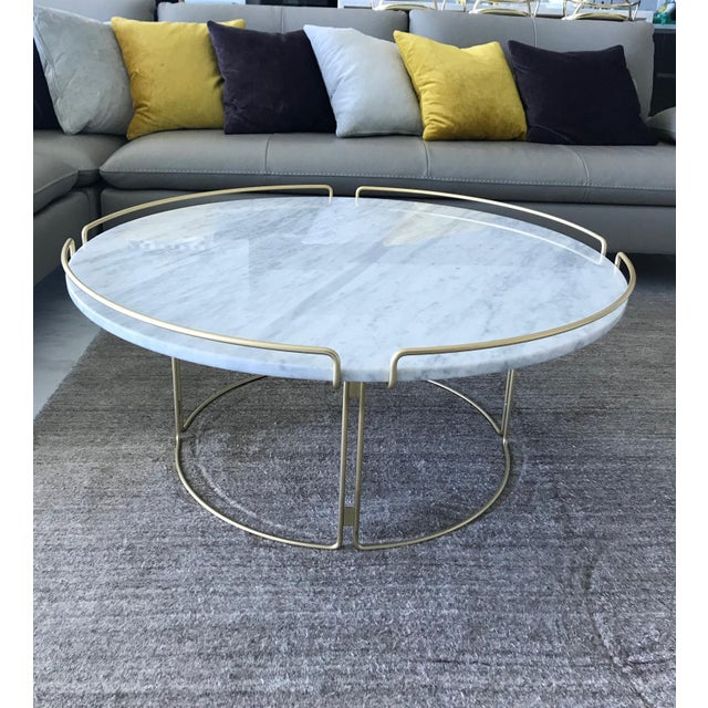 Bijou Cocktail Table in Marble and Matte Gold by Roche Bobois For Sale - Image 11 of 13