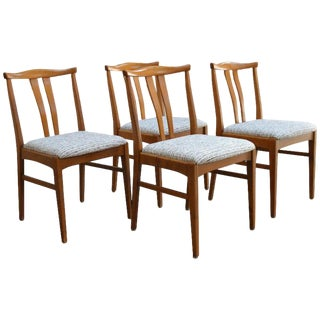 Set of Four Swedish Midcentury Dining Chairs For Sale