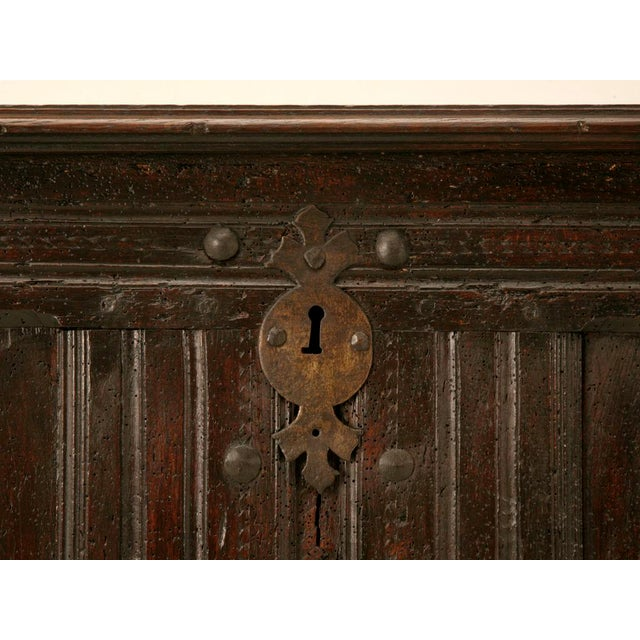 Antique French Carved Two-Panel Coffer For Sale - Image 9 of 11