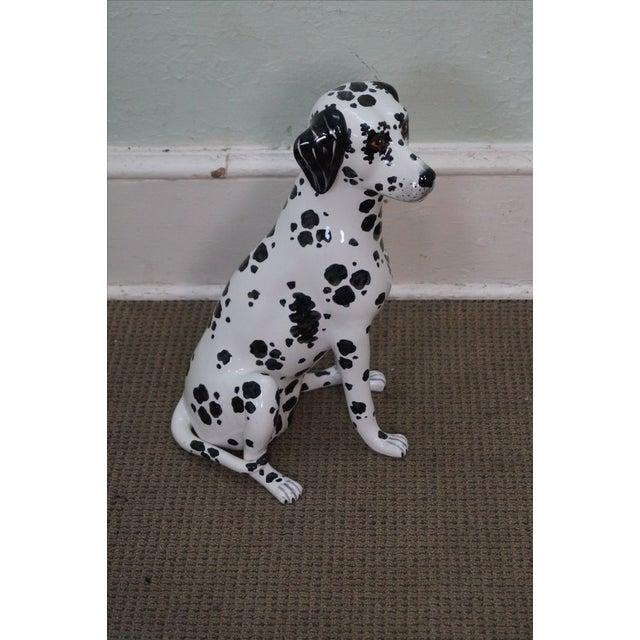 Italian Vintage Italian Pottery Dalmatian Dog Statue For Sale - Image 3 of 10