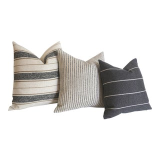 Cottonwood Falls Collection Vintage Style Pillow Covers - Set of 3 For Sale
