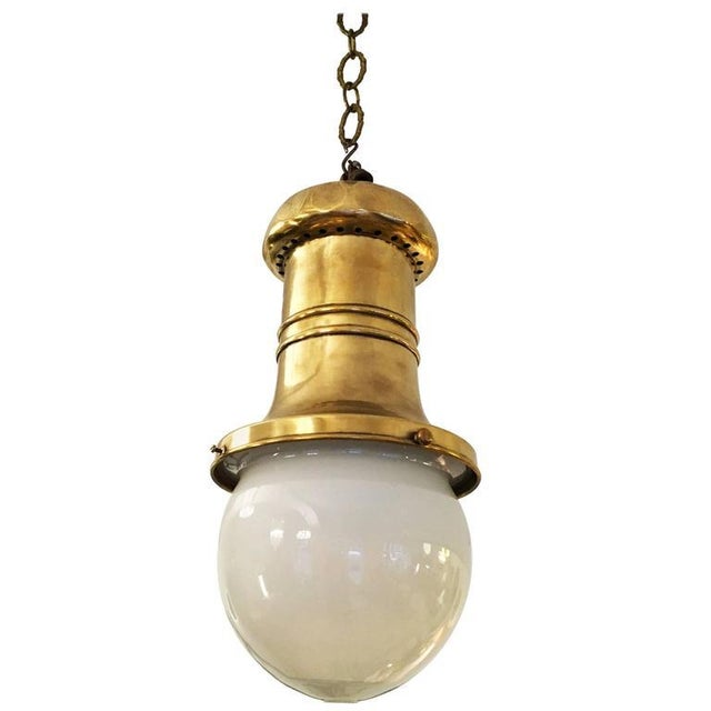 Antique Art Nouveau department store hanging lamp For Sale - Image 10 of 10