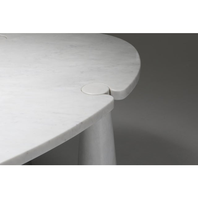 Carrara Marble Dining Table by Angelo Mangiarotti - 1970s For Sale - Image 11 of 13