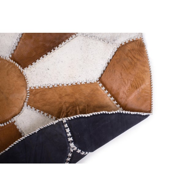 """Cowhide Patchwork Area Rug - 5'9"""" x 5'9"""" - Image 8 of 10"""