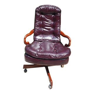 Classic Leather Brand Tufted High Back Executive Office Chair