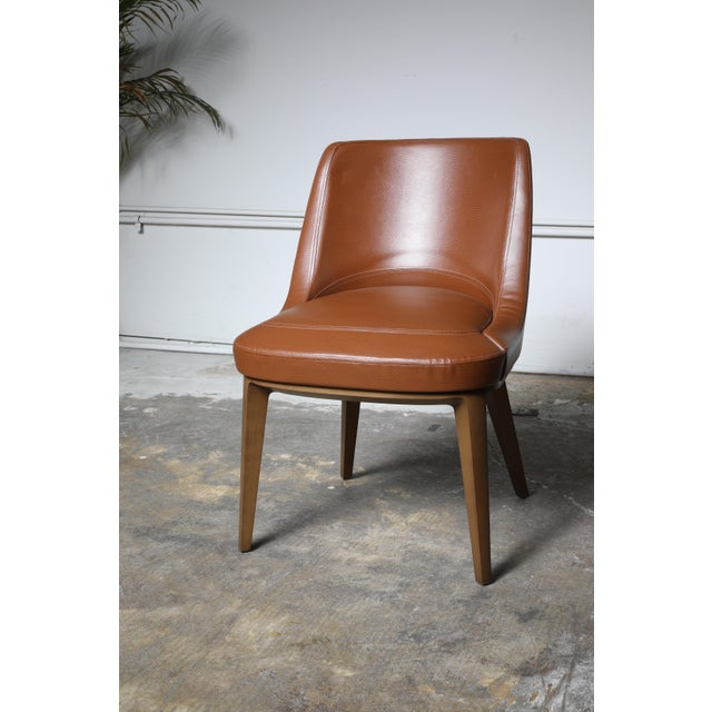 Brown Mid-Century Modern Cumberland Clover Brown Upholstered Maple Base Guest Chair For Sale - Image 8 of 8