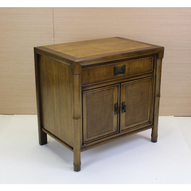 Mid-Century Campaign Style Nightstands - A Pair - Image 7 of 10