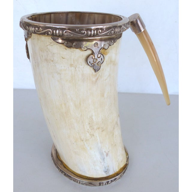 Prata Horn Hunt Cup with Silver Trim - Image 3 of 10