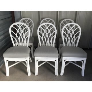 Ficks Reed White Lacquer Dining Set Preview