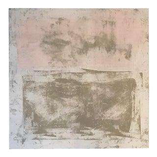 Original Abstract Modern Pink & Beige Painting