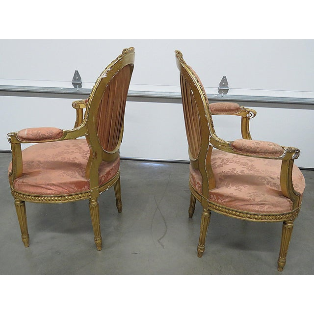 French Regency Style Arm Chairs - a Pair For Sale - Image 12 of 13