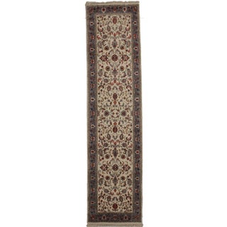Persian Style Hand Knotted Wool Rug 2′6″ × 10′ For Sale